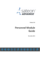 Sateon Advance Personnel Module Guide
