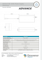 Advance – Datasheet – Power Supply – 8A 12Vdc