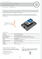 Installation Guide – Janus C4 RS-485 Line Header Controller