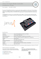 Installation Guide – Janus C4 Single Blade Controller