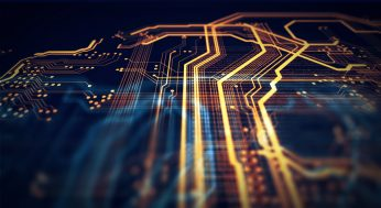 Orange,And,Blue,Technology,Background,Circuit,Board,And,Html,Code,3d